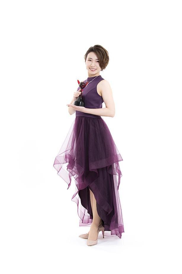 第15回「声優アワード」で、新人女優賞を受賞した杉山里穂さん