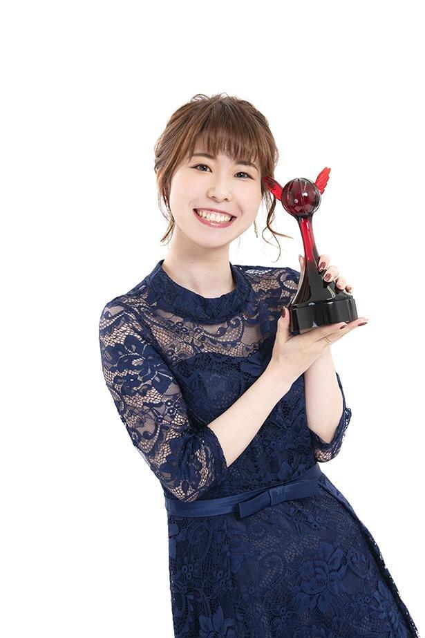 第15回「声優アワード」で、新人女優賞を受賞した藤原夏海さん
