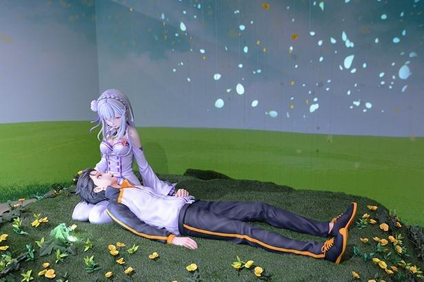 「異世界みゅーじあむ」『Re:ゼロから始める異世界生活』よりスバルに膝枕をするエミリア