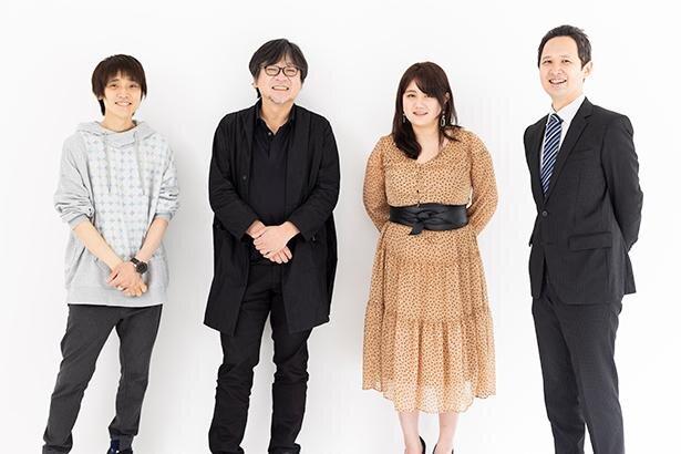 左から、吉田尚記さん、細田守さん、玉城絵美さん、永田聡さん