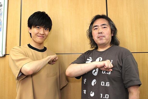 左から、土門竜介を演じる畠中祐さん、シリーズ構成・脚本を担当した福井晴敏さん