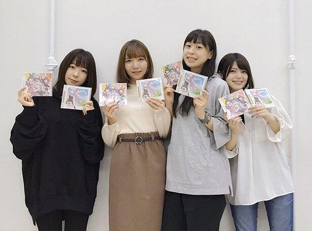 左から、田澤茉純さん、和氣あず未さん、徳井青空さん、内村史子さん