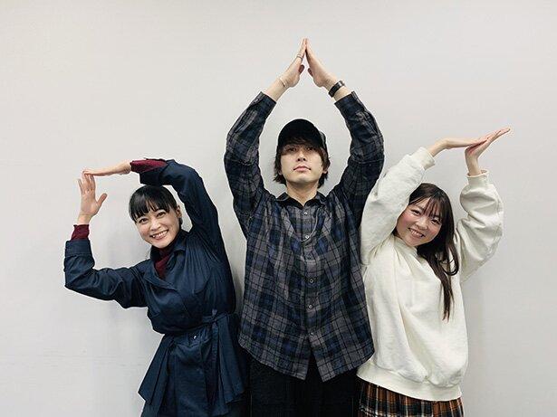 TVアニメ「プランダラ」よりリヒトー=バッハ役の中島ヨシキさん、陽菜役の本泉莉奈さん、リィン=メイ役の小澤亜李さん