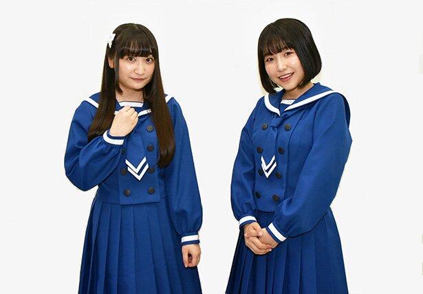 左から、鶴木陽渚役の高尾奏音さん、帆高夏海役の川井田夏海さん