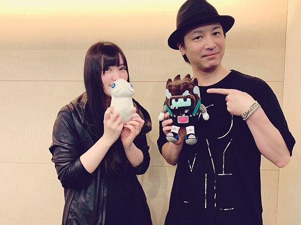 左より、クレナイ役の喜多村英梨さん、ミナト役の鳥海浩輔さん