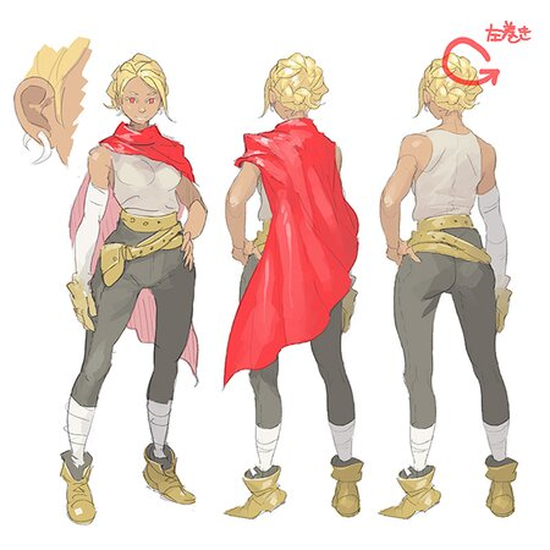 pomodorosaさんが描いたキャラクターコンセプトデザイン