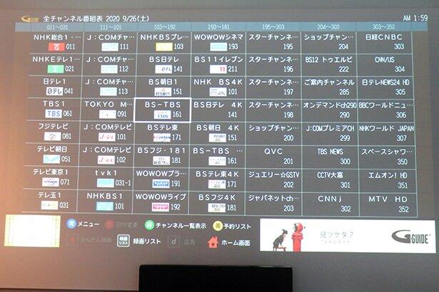 EJアニメホテルで観られるチャンネル一覧、の一部。これで1/3くらいです。