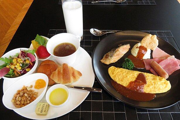 朝食もかなりのボリュームです。
